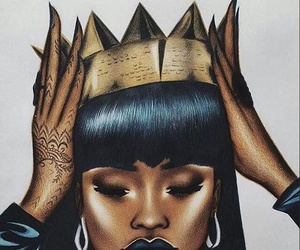 rihanna, Queen, and crown image