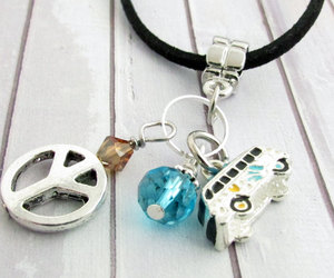 crystal necklace, etsy, and peace necklace image