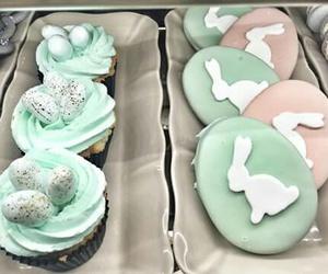 bunny, Cookies, and cupcake image
