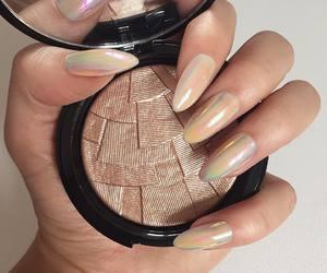 cosmetics, girl, and bronzer image