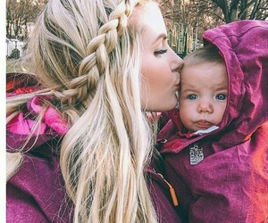 baby, mom, and sidebraid image