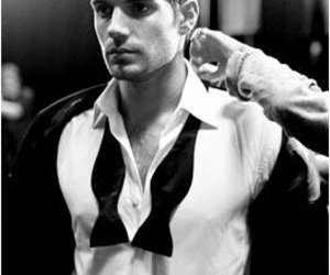 Henry Cavill, black and white, and sexy image