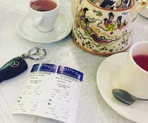 car, tea time, and coffee image