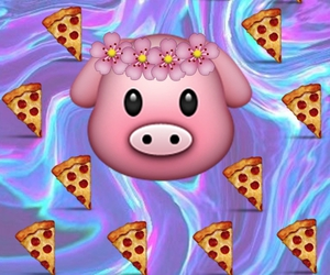 flores, wallpaper, and pig image