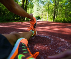 running, shoes, and sport image