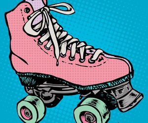 boot, roller skate, and recolour image