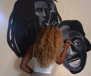 2pac, bob marley, and curly image