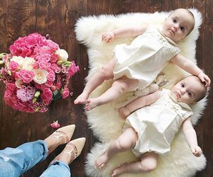 baby, flowers, and sweet image