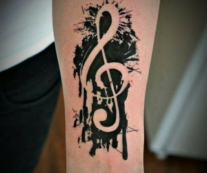 black, music, and notes image