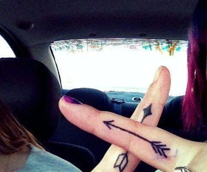 tattoo, arrow, and best friends image