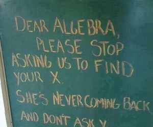 algebra, funny, and x image