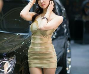 beautiful, show girl, and korean racing model image