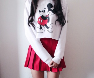red, disney, and girl image