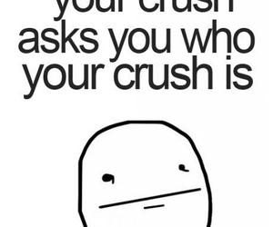 crush, awkward, and poker face image