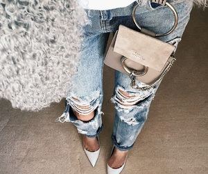 fashion and ripped jeans image