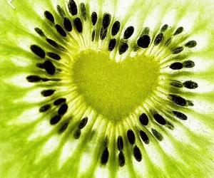 heart, kiwi, and fruit image