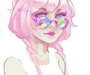 pink, anime, and art image