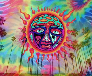 colors, sunset, and psychedelic image