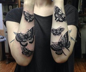 art, hands, and tattoo image