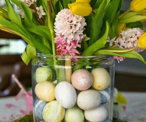 easter, flowers, and centerpiece image