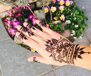 fashion, flower, and hand image