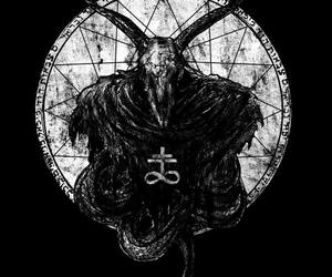 black and white, tumblr, and satanism image