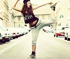 girl, dance, and hip hop image