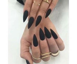 nails, black, and beautiful image