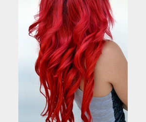 curly hair, hair, and red hair image