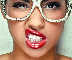 glasses, lips, and swag image