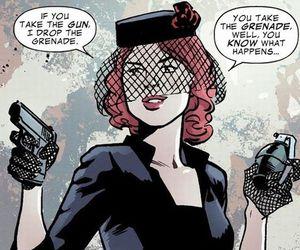 black widow, comic, and Marvel image
