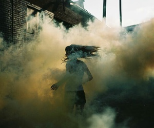 smoke, girl, and photography image
