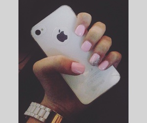 iphone, classy nails, and one image