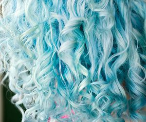 hair, blue, and curls image