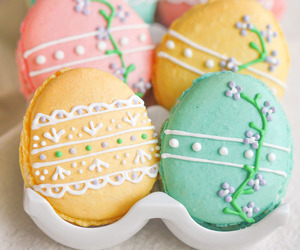 Cookies, easter, and easter eggs image