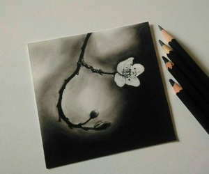 art, beautiful, and charcoal image