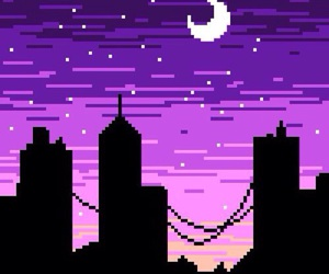 city, purple, and wallpaper image