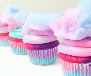 cupcakes, yummy, and cottoncandy image