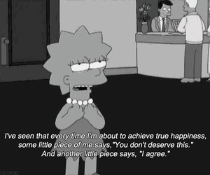 quotes, sad, and simpsons image