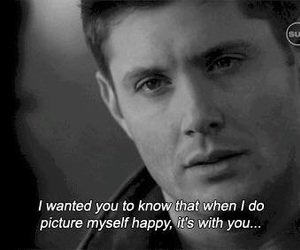 supernatural, quotes, and happy image