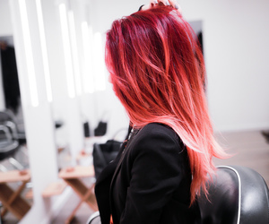 lua, red hair, and tie and dye image
