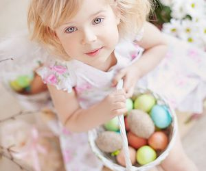cute, girl, and happy easter image
