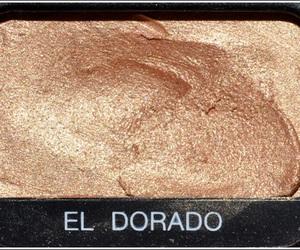 makeup, eyeshadow, and gold image