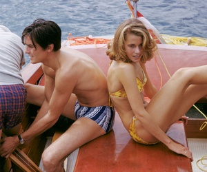 Alain Delon and jane fonda image