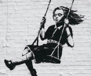 art, street art, and BANKSY image