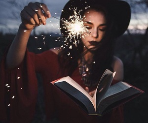 book, magic, and photography image