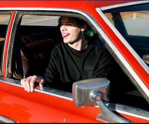 car, red car, and michael clifford image