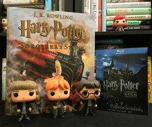 book, bookshelf, and harry potter image