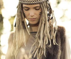 dreads, girl, and hippie image