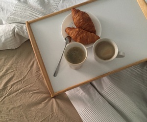 breakfast, morning, and breakfast in bed image